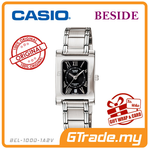 CASIO BESIDE BEL-100D-1A2V Classic Analog Ladies Watch | Square