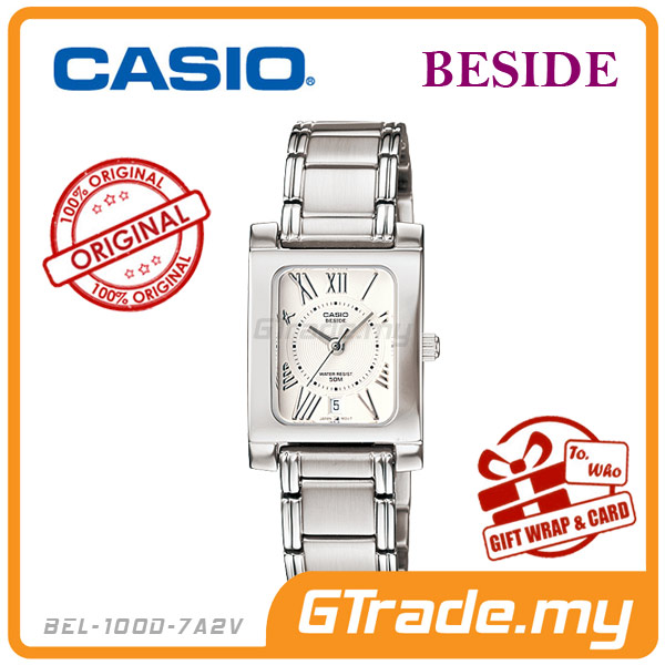 CASIO BESIDE BEL-100D-7A2V Classic Analog Ladies Watch | Square