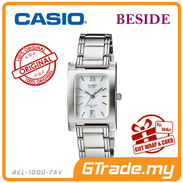 CASIO BESIDE BEL-100D-7AV Classic Analog Ladies Watch | Square