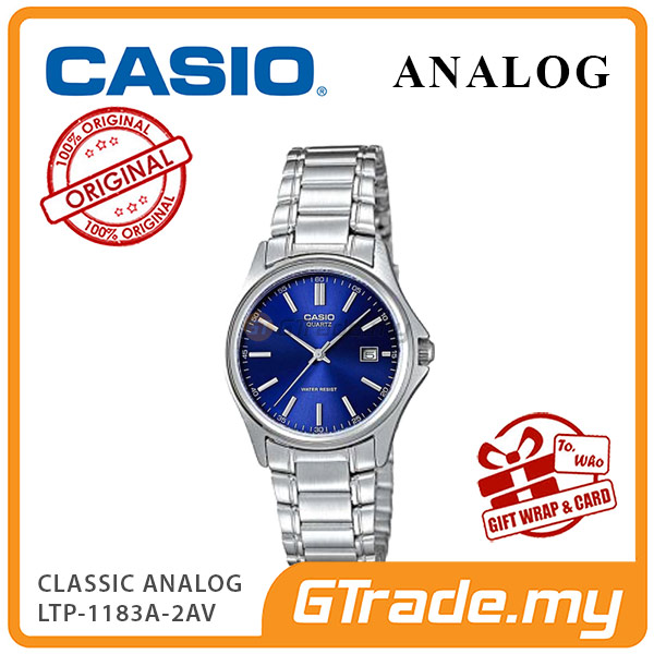 CASIO CLASSIC ANALOG LTP-1183A-2AV Ladies Watch | Date Display Steel