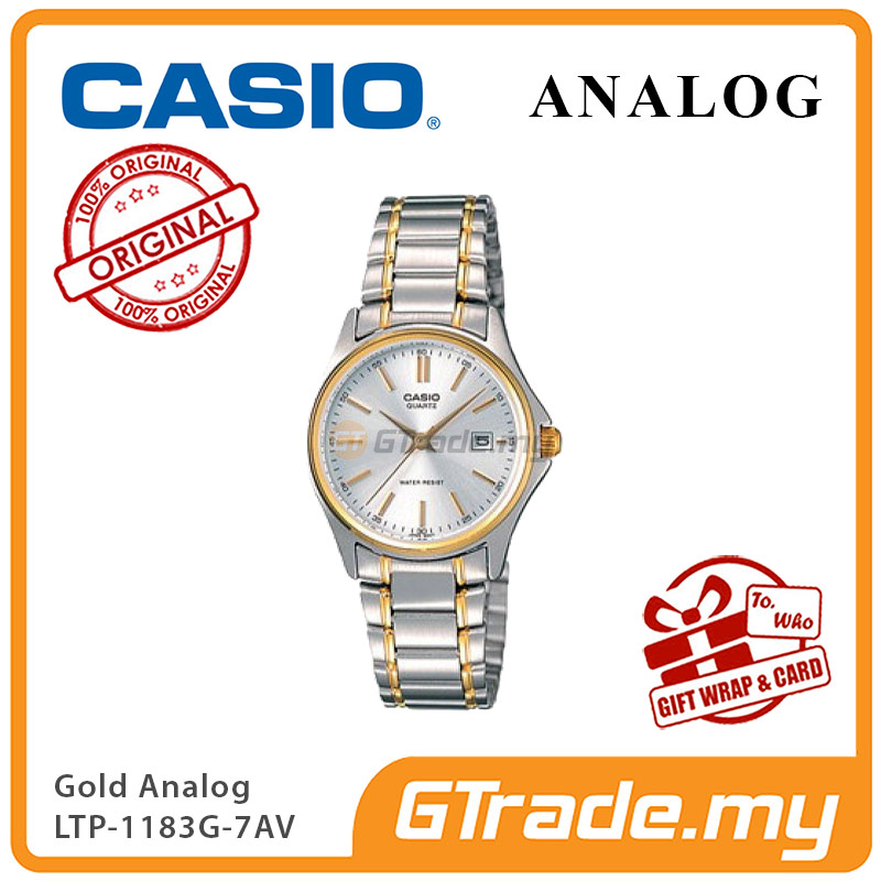 CASIO CLASSIC ANALOG LTP-1183G-7AV Ladies Watch | Date Display Steel