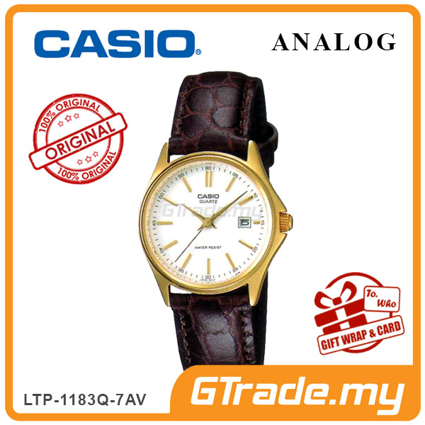 CASIO CLASSIC ANALOG LTP-1183Q-7AV Ladies Watch | Date Display Leather