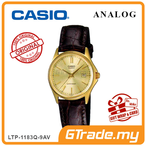 CASIO CLASSIC ANALOG LTP-1183Q-9AV Ladies Watch | Date Display Leather