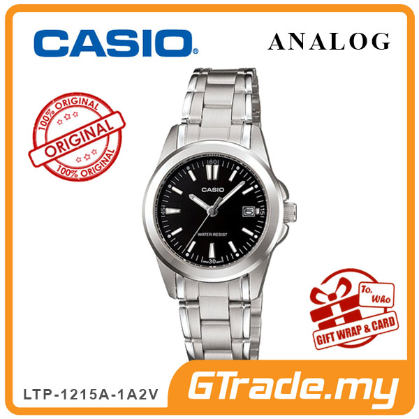 CASIO CLASSIC ANALOG LTP-1215A-1A2V Ladies Watch | Steel Date Display
