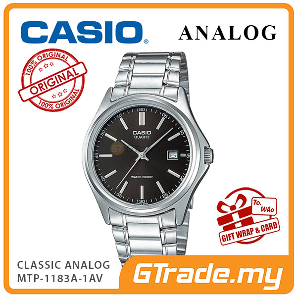 CASIO CLASSIC ANALOG MTP-1183A-1AV Men Watch | Date Display Steel Band