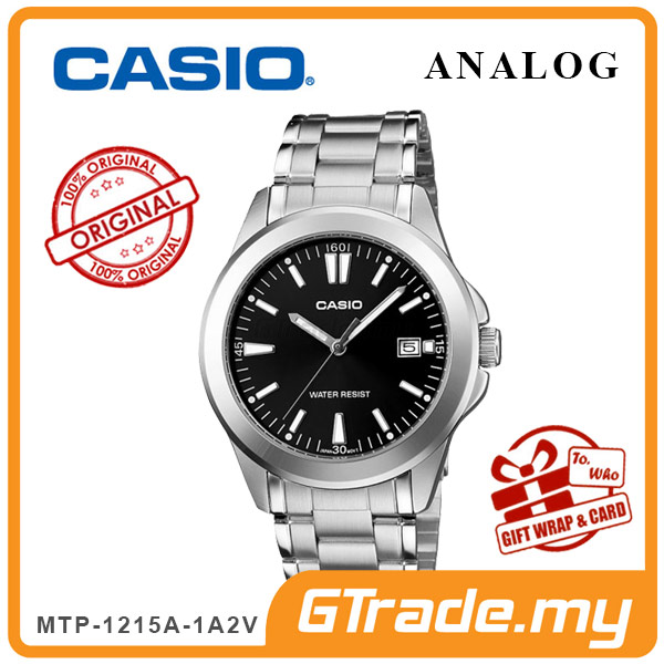 CASIO CLASSIC ANALOG MTP-1215A-1A2V Men Watch | Steel Date Display