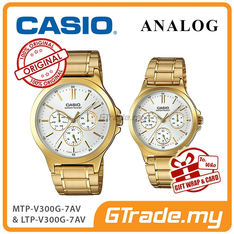 CASIO COUPLE MTP-V300G-7AV & LTP-V300G-7AV Analog Watch
