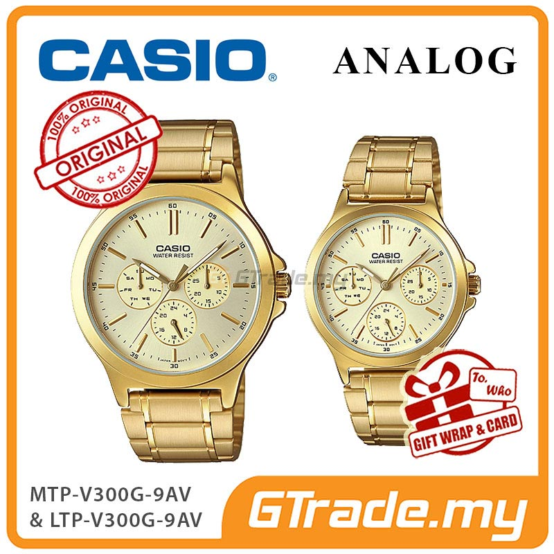 CASIO COUPLE MTP-V300G-9AV & LTP-V300G-9AV Analog Watch