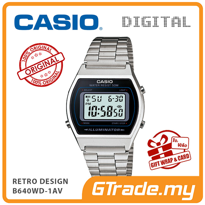 CASIO DIGITAL B640WD-1AV  Men/Ladies Digital Watch | Retro Design 50WR