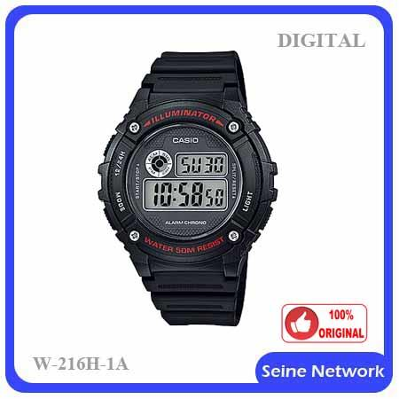CASIO DIGITAL W-216H-1A WATCH【ORIGINAL】