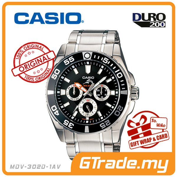 CASIO DURO MDV-302D-1AV Scuba Diving Diver Watch | MENS WR200M