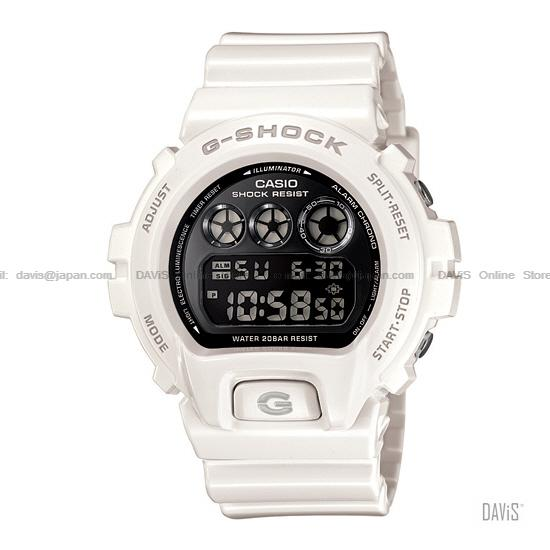 CASIO DW-6900NB-7 G-SHOCK 'Metallic Colors' resin strap white