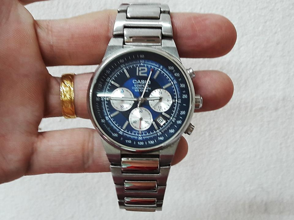 CASIO EDIFICE 2711 CHRONOGRAPH ANA LOG WATCH RARE!!!!S