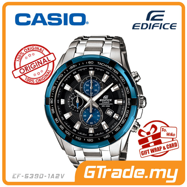 CASIO EDIFICE EF-539D-1A2V Chronograph Watch | Tachymeter Ion-Plated