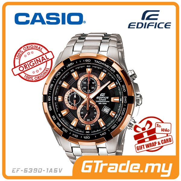 CASIO EDIFICE EF-539D-1A5V Chronograph Watch | Tachymeter Ion-Plated
