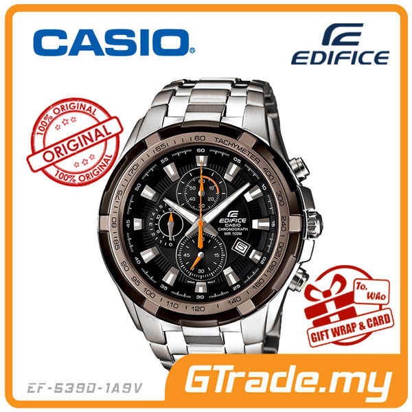 CASIO EDIFICE EF-539D-1A9V Chronograph Watch | Tachymeter Ion-Plated