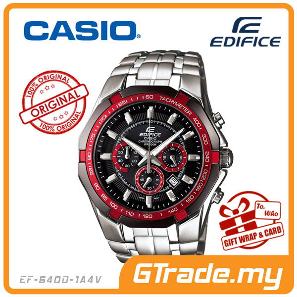CASIO EDIFICE EF-540D-1A4V Chronograph Watch | Tachymeter Ion-Plated