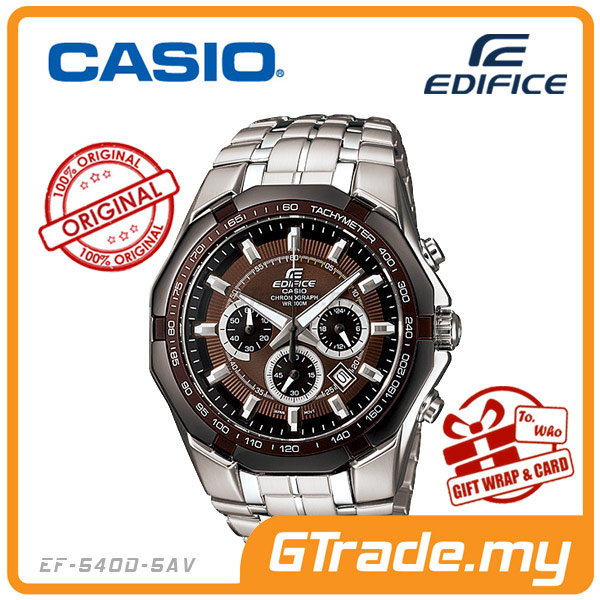 CASIO EDIFICE EF-540D-5AV Chronograph Watch | Tachymeter Ion-Plated