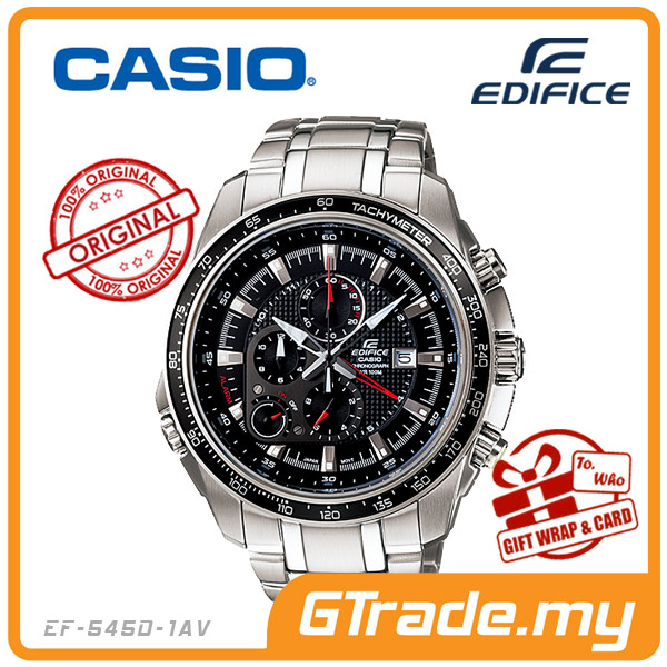 CASIO EDIFICE EF-545D-1AV Chronograph Watch | Tachymeter Alarm