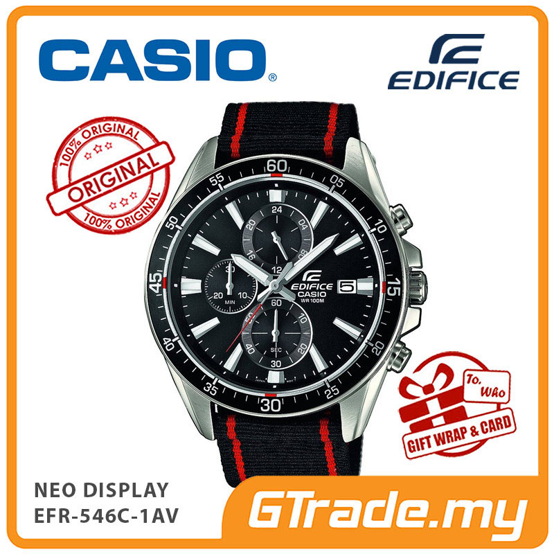 CASIO EDIFICE EFR-546C-1AV Chronograph Watch | Neo Display Cloth Band