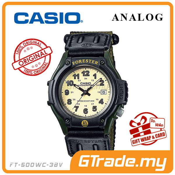 CASIO FOREST FT-500WC-3BV Analog Watch | LED Military Outdoor Look