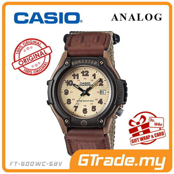 CASIO FOREST FT-500WC-5BV Analog Watch | LED Military Outdoor Look