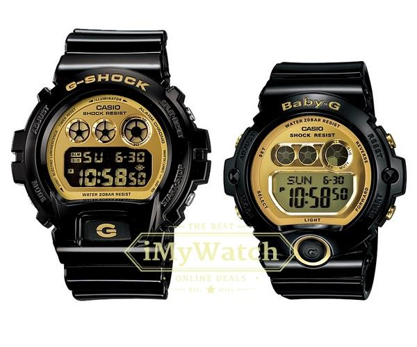 Casio G-Shock & Baby-G DW-6900CB-1D & BG-6901-1D Couple Watch