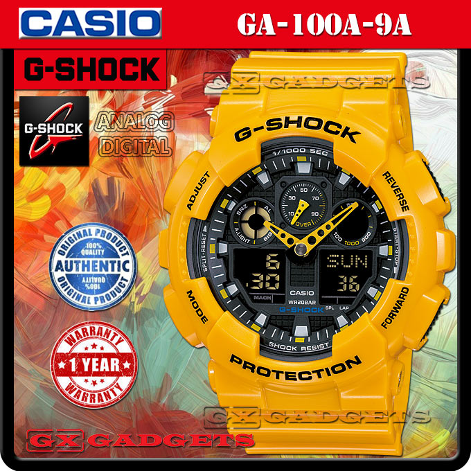Casio G Shock Ga 100a 9a Analog Digital Watch World Time