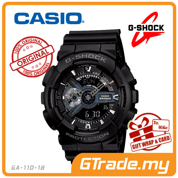 CASIO G-SHOCK GA-110-1B Analog Digital Watch | 3D Design Big Case