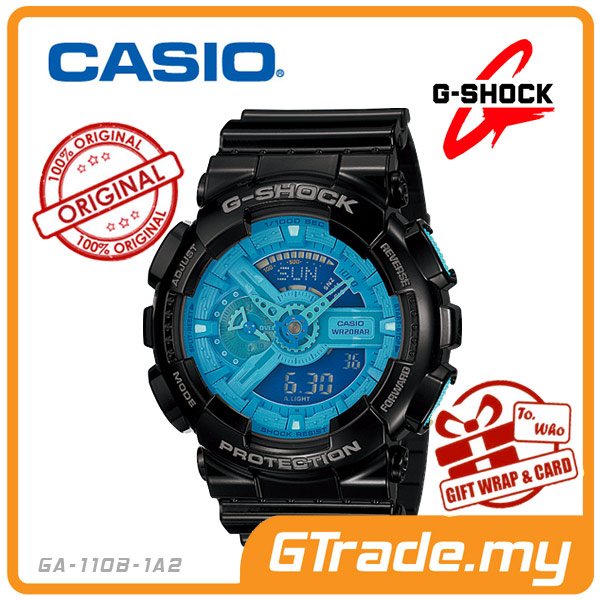 CASIO G-SHOCK GA-110B-1A2 Analog Digital Watch | Big Lustrous Color