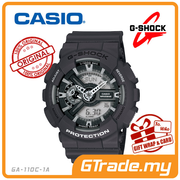 CASIO G-SHOCK GA-110C-1A Analog Digital Watch 3D Look Magnetic Resist