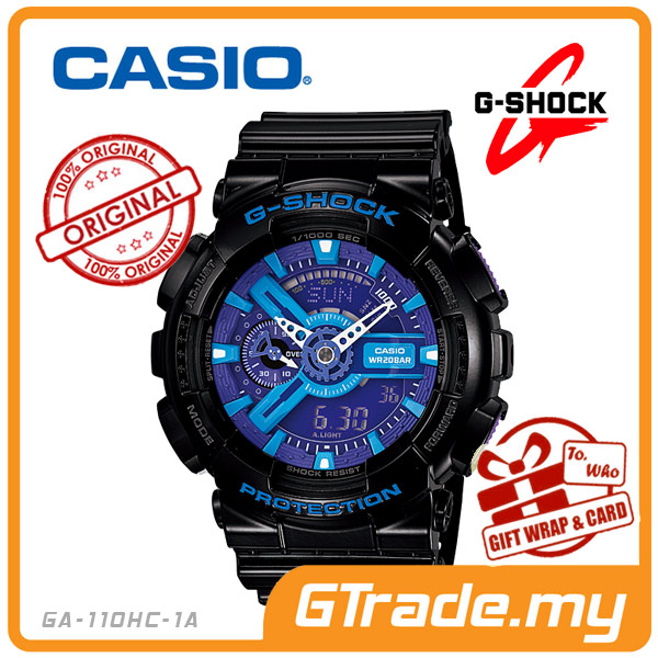 CASIO G-SHOCK GA-110HC-1A Analog Digital Watch | 3D Design Big Case