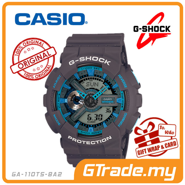 CASIO G-SHOCK GA-110TS-8A2 Analog Digital Watch| 3D Neon Matte Design