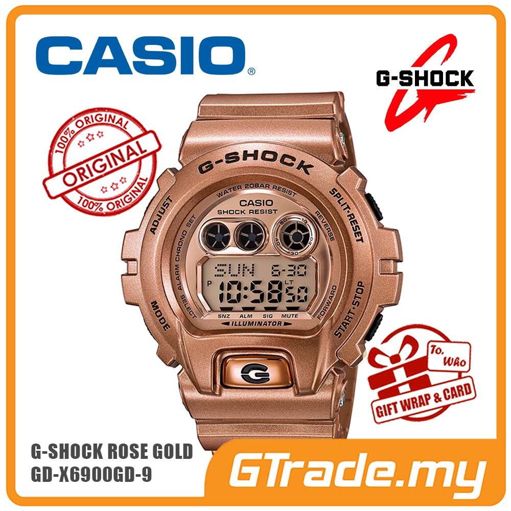 CASIO G-SHOCK GD-X6900GD-9 GOLD Digital Watch | Rose Gold Big Case