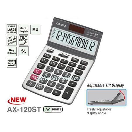 Casio Genuine Compact Desk Type Calculator AX-120ST Value Series