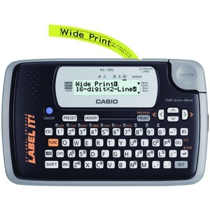 Casio Genuine Label Printer KL-120 @ Large 16-digit 2-line LCD