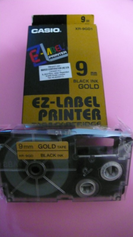 Casio Genuine Label Printer's Cartridge 9mm @ 11-Colour Selection