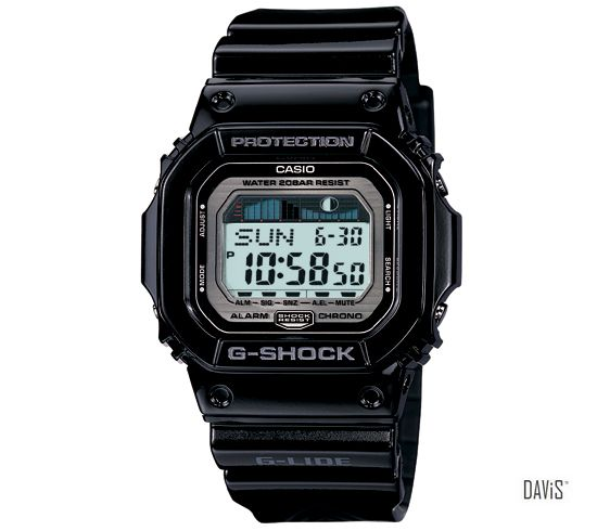 CASIO GLX-5600-1 G-SHOCK G-LIDE tidegraph resin strap watch black