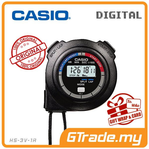 CASIO HS-3V-1R Hand Held Sports Track Field Digital Stopwatch
