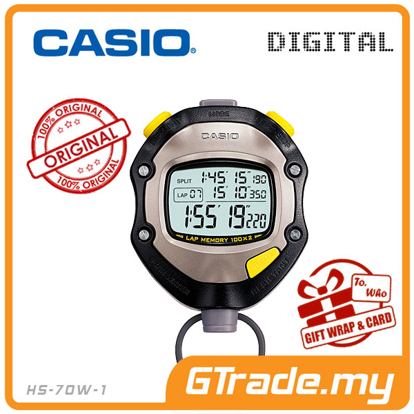 CASIO HS-70W-1 Hand Held Sports Track Field Digital Stopwatch