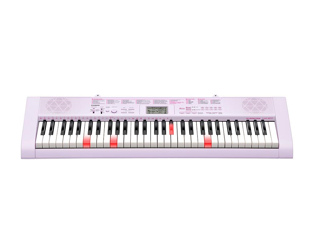Casio LK-127 Key Lighting Keyboard - Pink