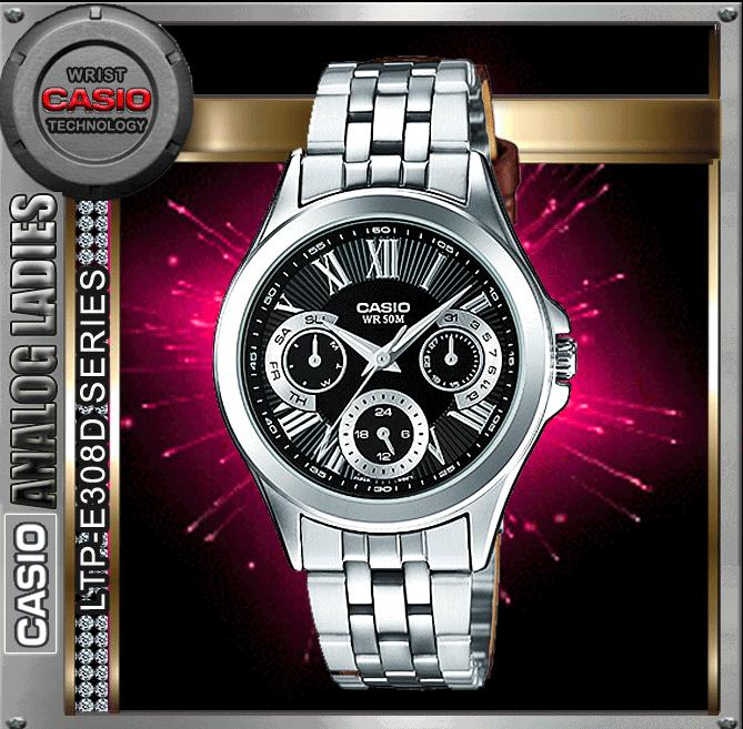 CASIO LTP-E308D-1A ANALOG LADIES WATCH☑ORIGINAL☑