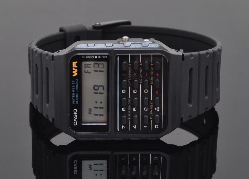 Casio Men Data Bank Calculator Watch CA-53W-1Z
