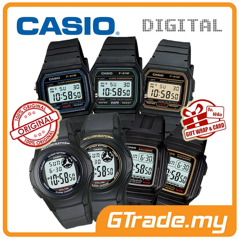 CASIO MEN KIDS DIGITAL WATCH | F-91W F-200W F-201WA ALARM WR