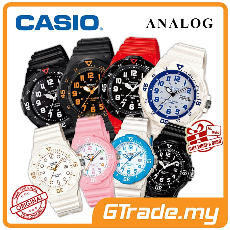 CASIO MEN LADIES KIDS ANALOG WATCH MRW-LRW-200H Young Colorful Look