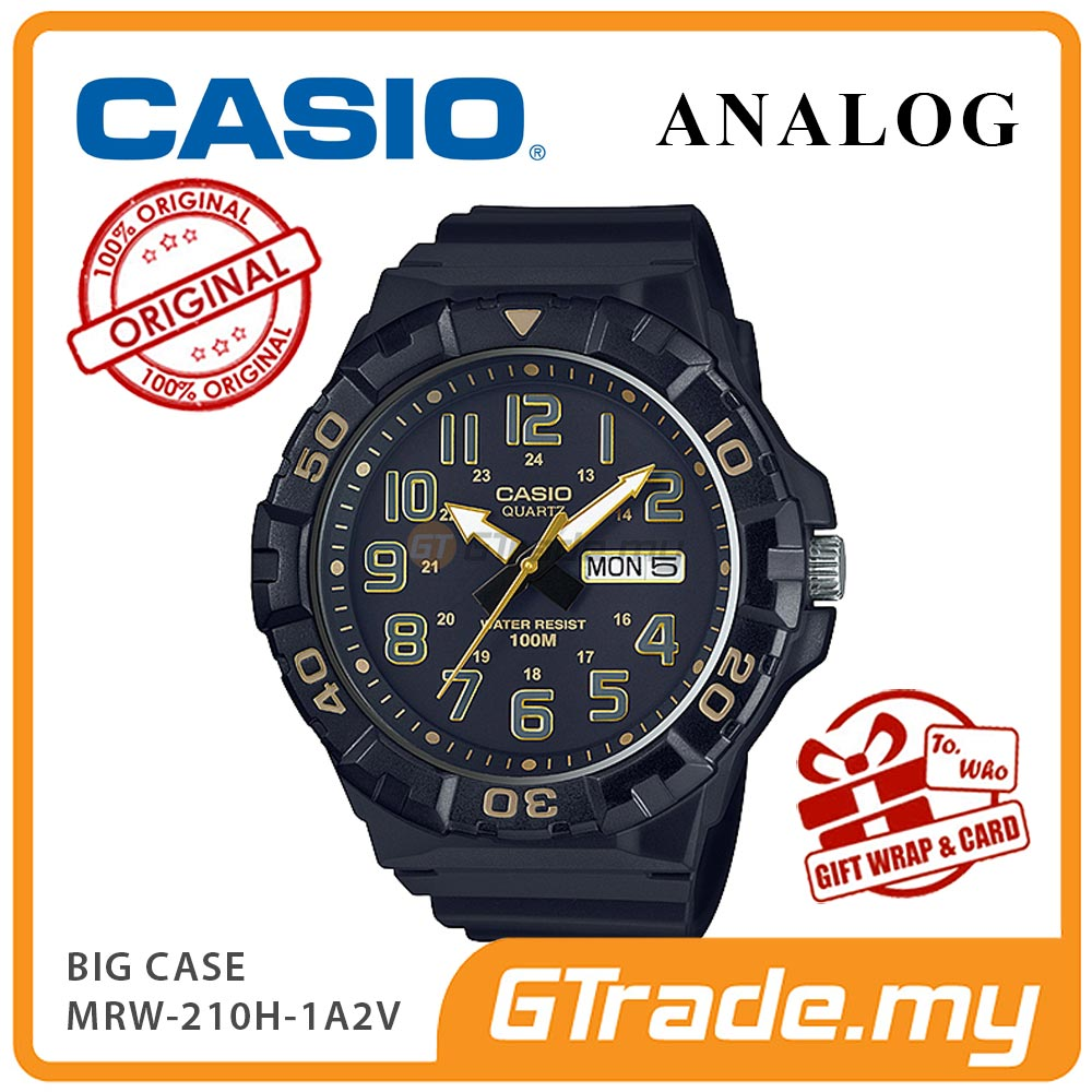 CASIO MEN MRW-210H-1A2V Analog Watch | Big Size Day Date Display