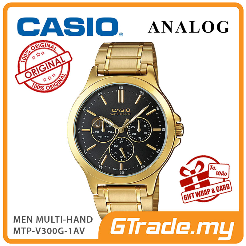 CASIO MEN MTP-V300G-1AV Analog Watch | Multi-Hand Water Resistant