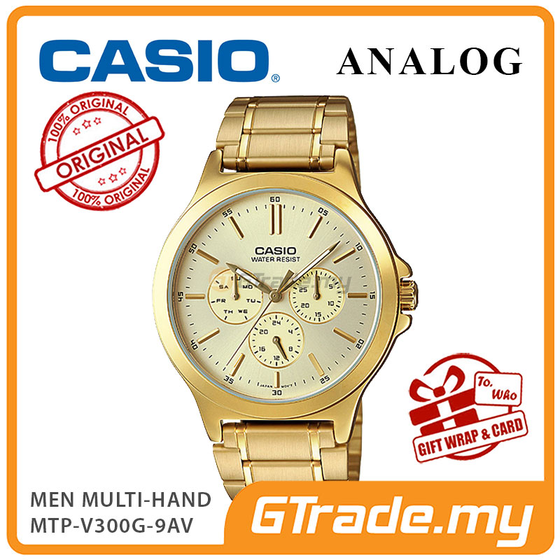 CASIO MEN MTP-V300G-9AV Analog Watch | Multi-Hand Water Resistant