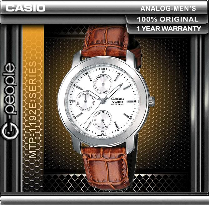 CASIO MTP-1192E-7A MULTI-HAND WATCH ☑ORIGINAL☑