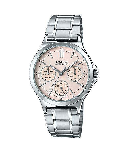 CASIO MULTI-HAND LADY S.STEEL LTP-V300D-4A